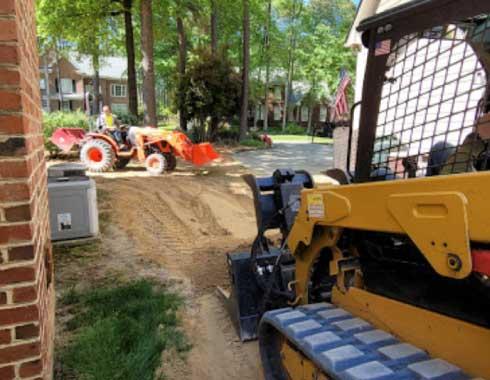 Cary-NC-Grading-Job-Tractor-and-Bobcat