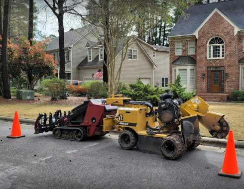Cary-NC-Residential-Stump-Grinding-Job-Equipment